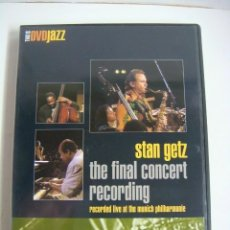 Vídeos y DVD Musicales: D.V.D. DE JAZZ STAN GETZ THE FINAL CONCERT RECORDING.. Lote 294502068