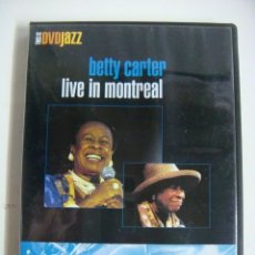 Vídeos y DVD Musicales: D.V.D DE JAZZ BETTY CARTER LIVE IN MONTREAL (&). Lote 294502278