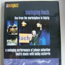 Vídeos y DVD Musicales: D.V.D DE JAZZ SWINGING BACH LIVE FROM THE MARKETPLACE IN LEIPZIG (&). Lote 294502383