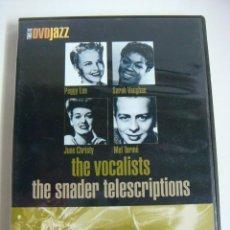 Vídeos y DVD Musicales: D.V.D DE JAZZ THE VOCALISTS THE SNADER TELESCRIPTIONS (&). Lote 294502488