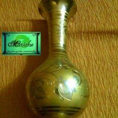 Vintage: JARRÓN EN METAL DORADO Y NEGRO- BRONCE- LABRADO PERFECTO. Lote 27549805