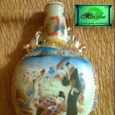 Vintage: JARRON DE CERAMICA CON DISEÑO CHINO Y RELIEVES. Lote 26048421