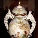 Vintage: PRECIOSO JARRON DE PORCELANA FINA MARCA RAMGI TOTALMENTE DECORADO EN . Lote 20491539