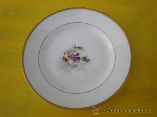 PLATO DE PORCELANA VISTAALEGRE (Vintage - Decoración - Porcelanas y Cerámicas)