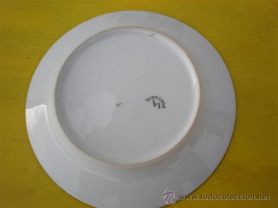 Vintage: plato de porcelana vistaalegre - Foto 2 - 17470779