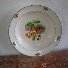 Vintage: PLATO GRANDE DE CERAMICA FIRMADO. Lote 17527803
