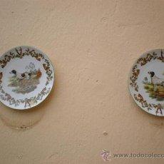 Vintage: 2 PLATOS DE PORCELANAS DE PERROS LIMOGES. Lote 17554311