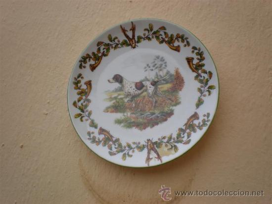 Vintage: 2 platos de porcelanas de perros Limoges - Foto 2 - 17554311