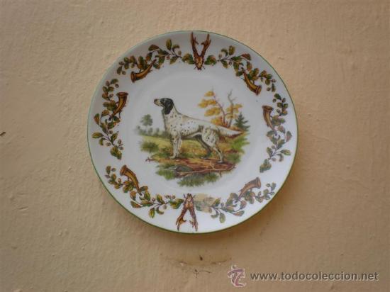 Vintage: 2 platos de porcelanas de perros Limoges - Foto 3 - 17554311