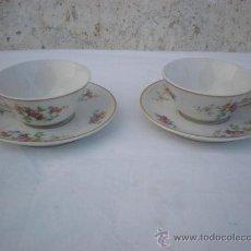 Vintage: 2 TAZAS ANTIGUAS DE PORCELANA. Lote 18044506