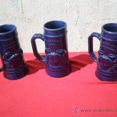 Vintage: 3 JARRAS DE CERAMICAS. Lote 18378566