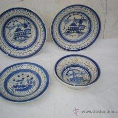 Vintage: 4 PLATOS DE CERAMICA. Lote 18488080
