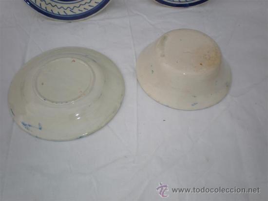 Vintage: 4 platos de ceramica - Foto 2 - 18488080