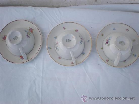 Vintage: 3 tazas de porcelana y platos - Foto 3 - 18563511