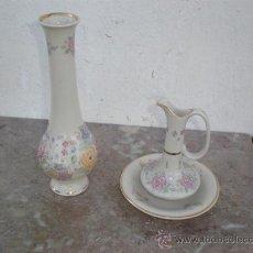 Vintage: JARRON,FLORERO Y PLATO CERAMICA FIRMADA. Lote 18947072