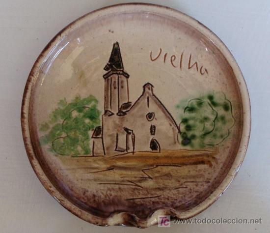PLATO DE CERÁMICA. VIELLA, LÉRIDA. MONASTERIO IGLESIA DE SAN MIQUEU. RECUERDO / SOUVENIR. (Vintage - Decoración - Porcelanas y Cerámicas)