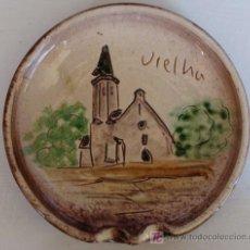 Vintage: PLATO DE CERÁMICA. VIELLA, LÉRIDA. MONASTERIO IGLESIA DE SAN MIQUEU. RECUERDO / SOUVENIR. . Lote 19427914