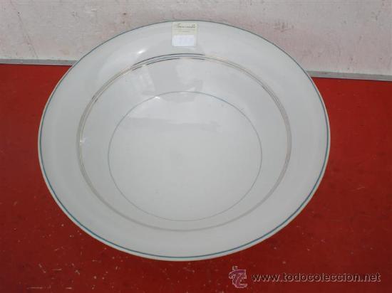 Vintage: ensaladera de porcelana firmada - Foto 2 - 19551054