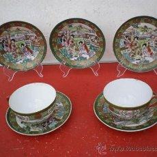 Vintage: 5 PLATOS Y 2 TAZAS PORCELANA CHINA VISTAALEGRE. Lote 19551071