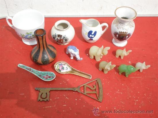 LOTE DE 14 PIEZAS CERAMICAS PARA VITRINA (Vintage - Decoración - Porcelanas y Cerámicas)
