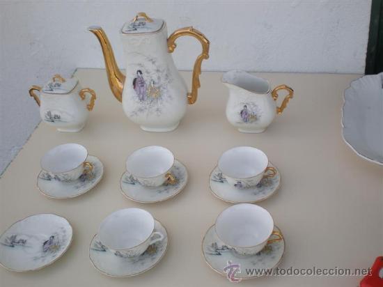 JUEGO DE TE PORCELANA VISTAALEGRE (Vintage - Decoración - Porcelanas y Cerámicas)