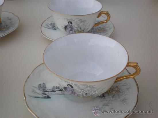 Vintage: juego de te porcelana vistaalegre - Foto 2 - 20630587