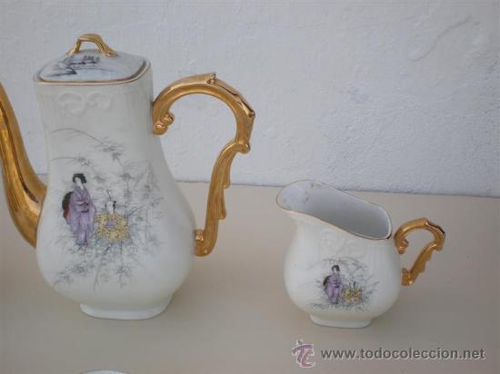 Vintage: juego de te porcelana vistaalegre - Foto 3 - 20630587