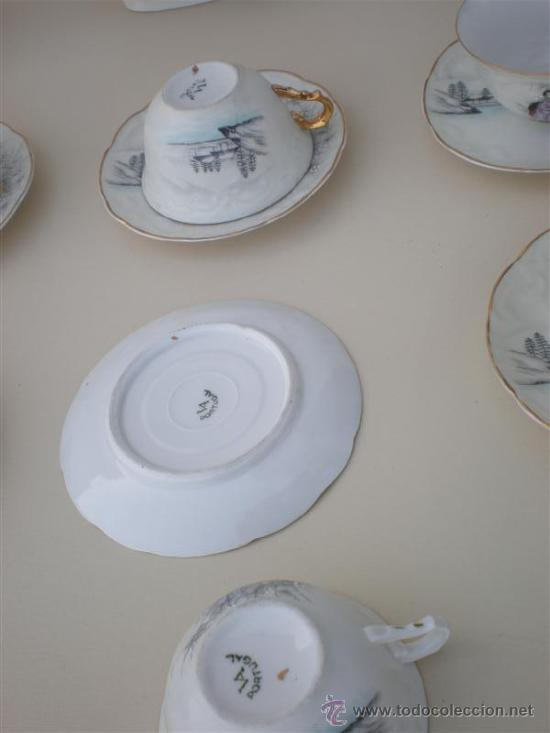 Vintage: juego de te porcelana vistaalegre - Foto 4 - 20630587