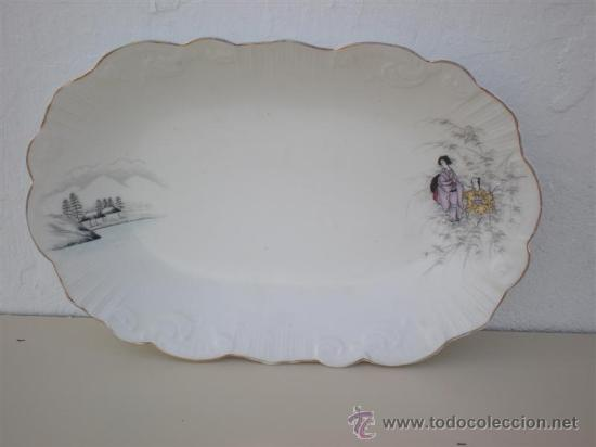 BANDEJA DE PORCELANA VISTAALEGRE (Vintage - Decoración - Porcelanas y Cerámicas)