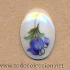 Vintage: *BISUTERIA 115 - PLACA DE PORCELANA FLOR PEQUEÑA 1.7 X 1.2 CMS AÑOS 70. Lote 21760541