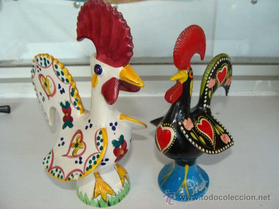 Pareja de gallos de cer mica portugal recuerd comprar Ceramica portuguesa online