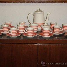 Vintage: JUEGO DE CAFE DE LOZA CON CAFETERA, AZUCARERO, LECHERA Y 12 TAZAS. *. Lote 183357463