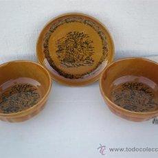 Vintage: 2 BOOL Y PLATO DE CERAMICA CHINA. Lote 22754219