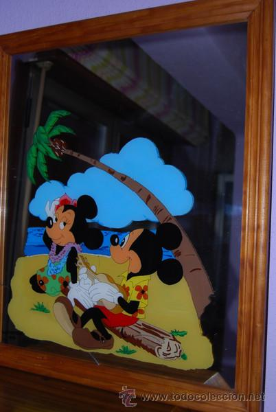 cristal pintado - mickey mouse - con espejo - w - Comprar Cristal y ...