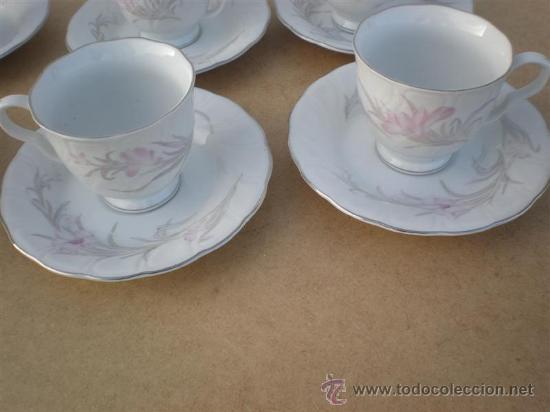 Vintage: 6 tazas de porcelana y 6 platos - Foto 2 - 23320281