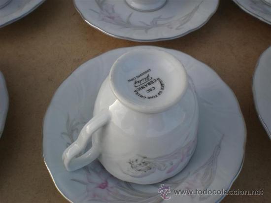 Vintage: 6 tazas de porcelana y 6 platos - Foto 3 - 23320281