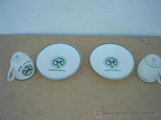 Vintage: 2 tazas y platos porcelana vista alegre - Foto 2 - 23322018