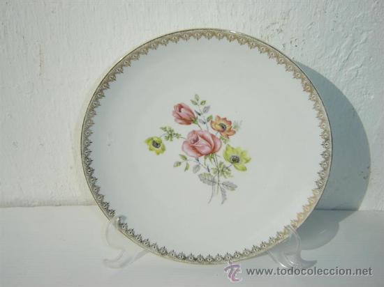 PLATO PORCELANA VISTAALEGRE (Vintage - Decoración - Porcelanas y Cerámicas)