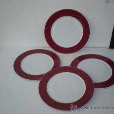 Vintage: 4 PLATOS DE PORCELANA RANDE LIMOGES. Lote 23637841