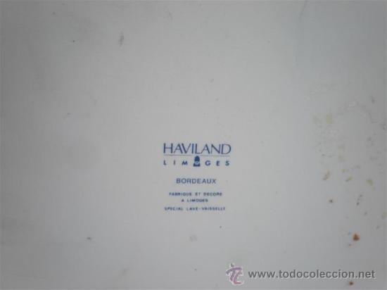 Vintage: 4 platos de porcelana rande limoges - Foto 2 - 23637841