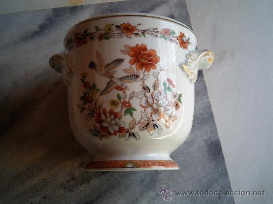 Vintage: Muy bonito macetero en porcelana marca Vista Alegre, Portugal. - Foto 5 - 34935348