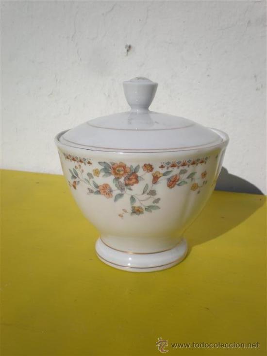 AZUCARERO PORCELANA (Vintage - Decoración - Porcelanas y Cerámicas)