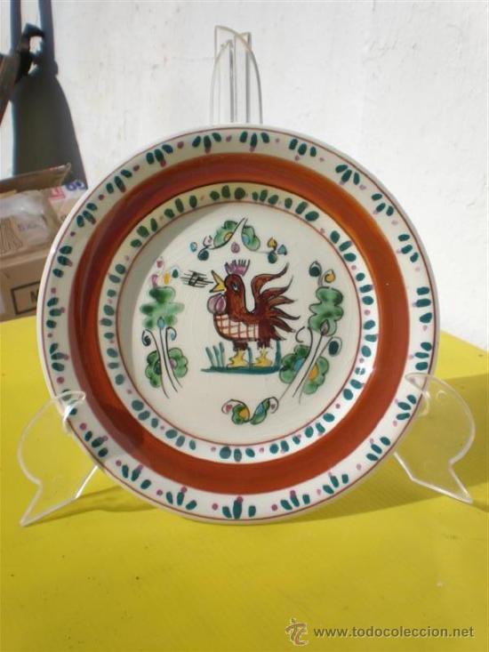 PLATO DE CERAMICA FIRMADO (Vintage - Decoración - Porcelanas y Cerámicas)