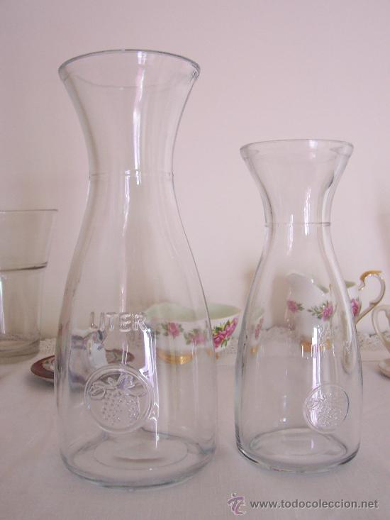 4 botellas o jarrones de vidrio decoraci n y me comprar - Decoracion de jarrones de cristal ...
