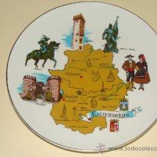 Vintage: PLATO DE CERÁMICA. EXTREMADURA. HERNÁN CORTES, PIZARRO, TRUJILLO, GUADALUPE, BADAJOZ. . Lote 36254752