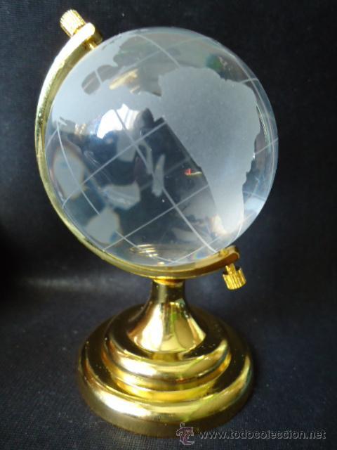 Preciosa bola del mundo en cristal con metal t comprar - Bola del mundo decoracion ...