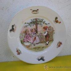 Vintage: PLATO DE PORCELANA NIÑOS. Lote 213215283