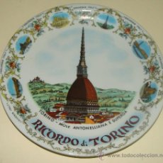 Vintage: PLATO DE CERÁMICA. TURÍN, ITALIA. TORINO. MUSEO MOLE ANTONELLIANA. RECUERDO / SOUVENIR.. Lote 295595353