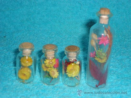 4 botellas tarros de cristal con flores siempre comprar for Tarros de cristal vintage