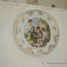 Vintage: PLATO DE PORCELANA NIÑOS LIMOGES. Lote 213215285